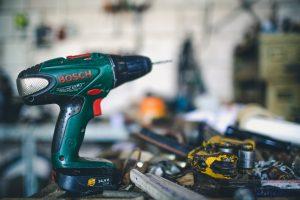 green Bosch hand drill